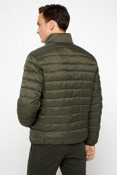 Cortefiel Ultralight quilted jacket with Thermolite eco Green