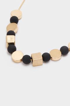 Cortefiel Short necklace with pendants Black