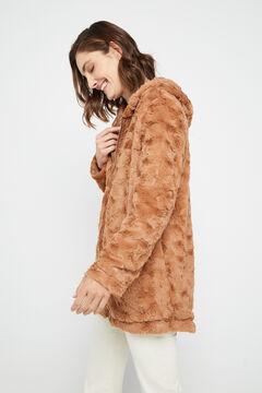 Cortefiel Reversible faux fur parka Beige