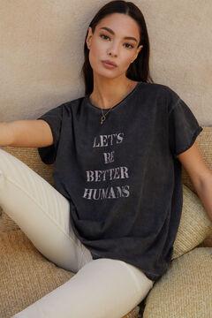 Cortefiel Camiseta de manga corta Negro