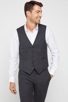 Cortefiel Slim fit grey waistcoat Gray