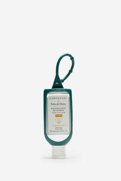 Cortefiel Bote de gel hidroalcohólico colgante Verde