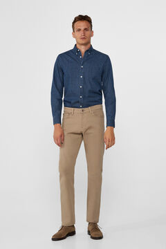 Cortefiel Regular fit coloured jeans Mink