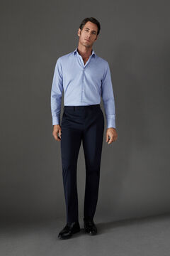 Cortefiel Navy blue tailored fit COOLMAX® trousers Navy
