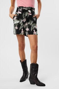 Cortefiel Flowing Bermuda shorts Black