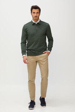 Cortefiel Men's polo shirt jumper Kaki