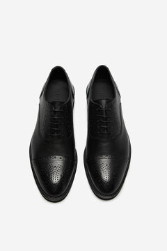 Cortefiel Urban rubber sole shoe Black