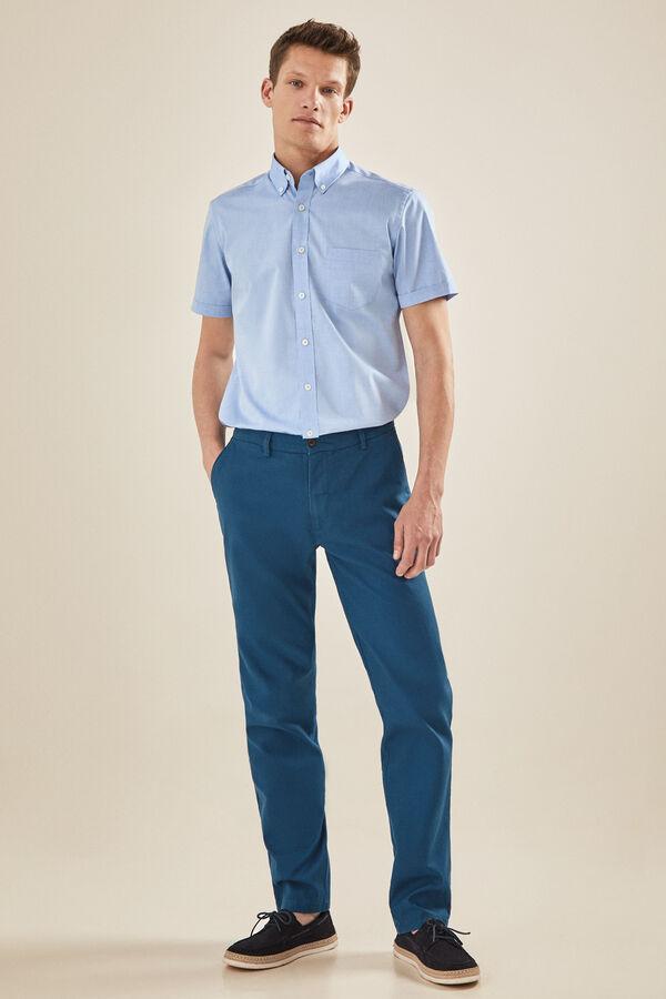 423ffb80f8 Cortefiel Pantalón 5 bolsillos Azul