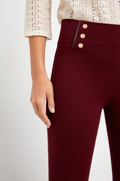 Cortefiel Push-up leggings with buttons Coral