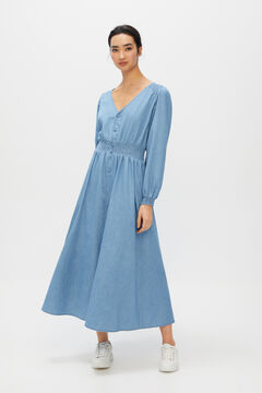 Cortefiel Denim dress Royal blue