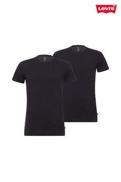Cortefiel 2-pack Levi's® round neck t-shirts  Black