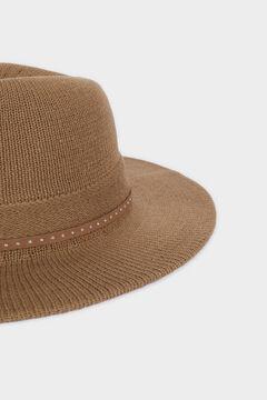 Cortefiel Sombrero de punto tachuelas Gris
