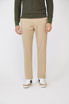 Cortefiel Essential classic fit lightweight chinos Camel