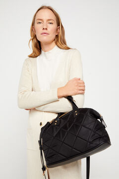 Cortefiel Padded bowling bag Black