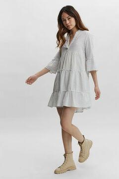 Cortefiel Short dress stripes White