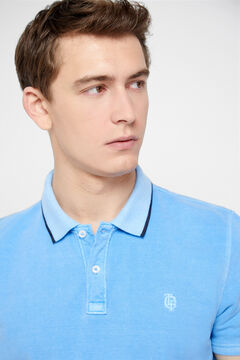 Cortefiel Short-sleeved polo shirt Royal blue