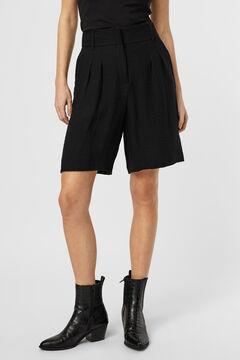 Cortefiel Basic Bermuda shorts Black