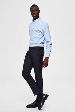 Cortefiel Slim fit shirt Blue
