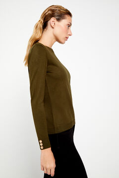 Cortefiel Crew neck jumper Green