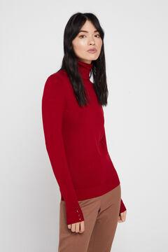 Cortefiel Jersey cuello vuelto Rojo