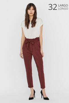 Cortefiel Paperbag trousers Tobaco