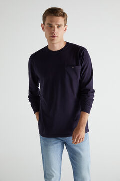 Cortefiel Long-sleeved T-shirt Turquoise