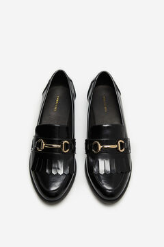 Cortefiel Loafer with tassels and fringe Black