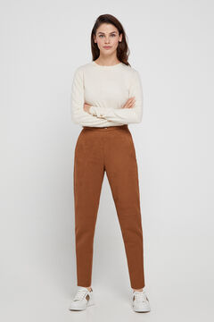Cortefiel Suede trousers. Mole