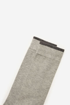 Cortefiel Plain sports socks Gray