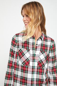 Cortefiel Checked shirt with classic collar Pink