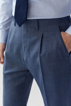 Cortefiel Classic fit birdseye trousers Blue