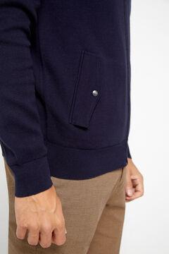Cortefiel Zip up cardigan Navy