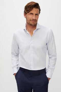 Cortefiel Camisa de vestir de rayas slim fit Azul