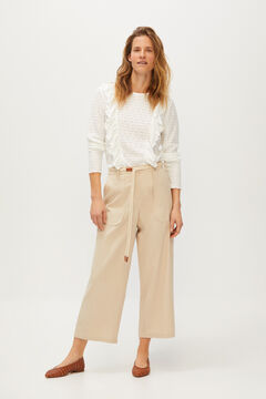 Cortefiel Cord belt trousers Gray