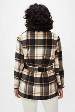 Cortefiel Flannel effect jacket Natural