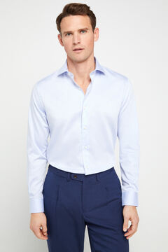 Cortefiel Tailored fit dress shirt Light blue