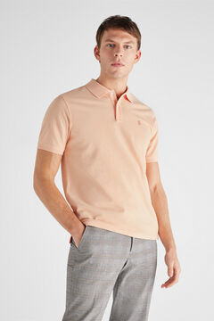 Cortefiel Essential short-sleeved polo shirt Pink