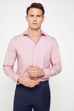 Cortefiel Plain, tailored-fit dress shirt Fuchsia