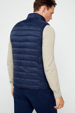 Cortefiel Ultralight gilet with THERMOLITE Navy