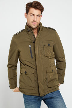 Cortefiel Technical four-pocket parka Green