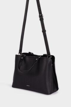 Cortefiel Crossbody tote bag  Black