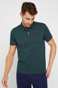 Cortefiel Essential short-sleeved polo shirt Dark green