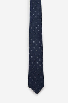 Cortefiel 100% silk jacquard tie Turquoise