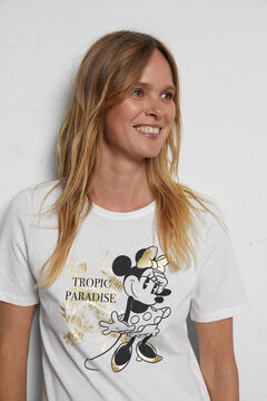 Cortefiel Minnie Mouse T-shirts White