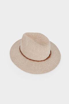 Cortefiel Sombrero de punto Beige