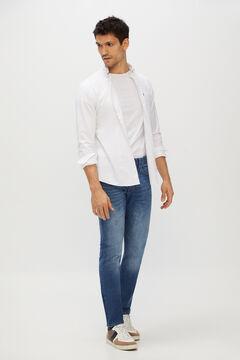 Cortefiel Slim dynamic light wash jeans  Royal blue