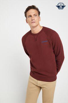 Cortefiel Round neck cotton Dockers® sweatshirt Fuchsia
