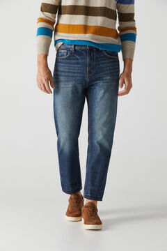 Cortefiel Relaxed dark wash jeans Stone