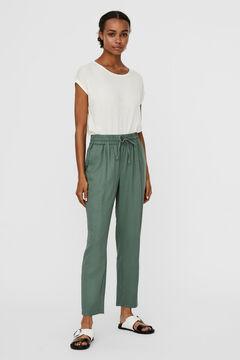 Cortefiel Ankle-length trousers Pistachiogreen
