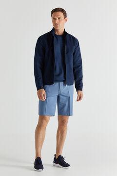 Cortefiel Cotton jacket Navy